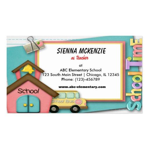 School Bus Business Card Template