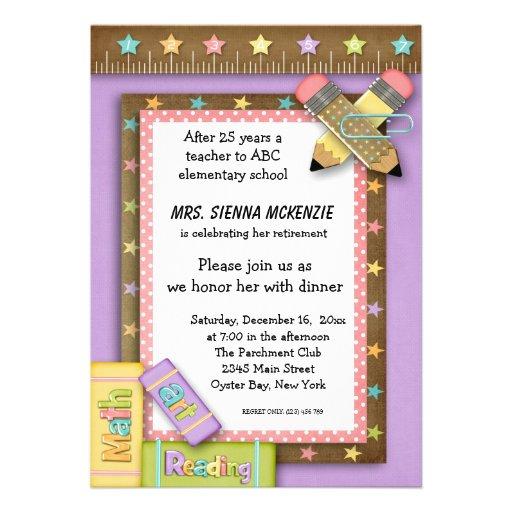 School Event Personalized Invitation Zazzle