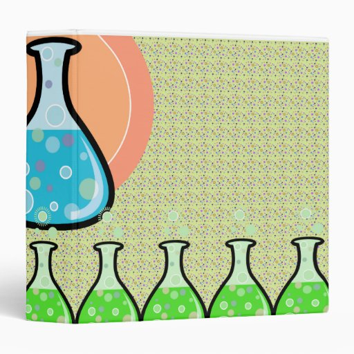 Science Design For Notebook: Science Experiment Beakers Notebook 3 Ring Binder
