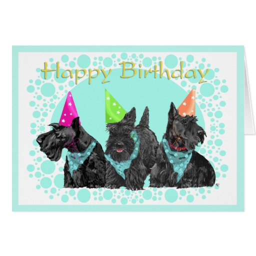 Coca Cola Gifts >> Scottish Terrier Birthday Card | Zazzle