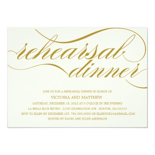 Rehearsal Dinner Invitation Wording Examples Ideas: REHEARSAL DINNER INVITATION