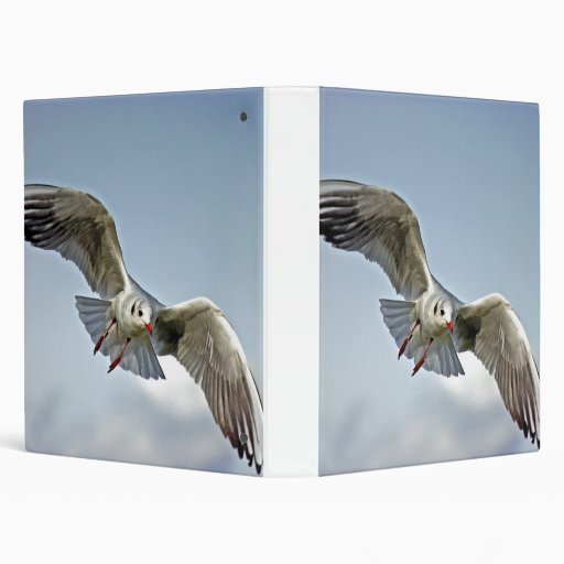 Seagull Flying With Wings Spread Binder