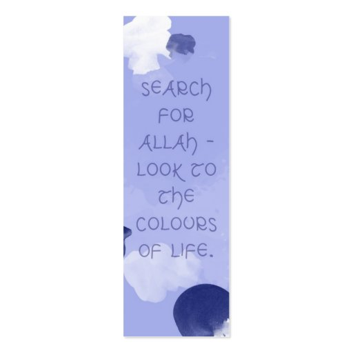 double sided bookmark template - search for allah islamic bookmark double sided mini