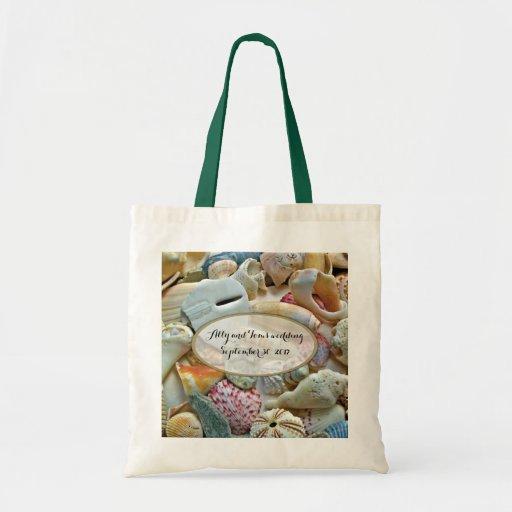 Personalized Wedding Gift Bags: Seashells Personalized Wedding Gift Bag