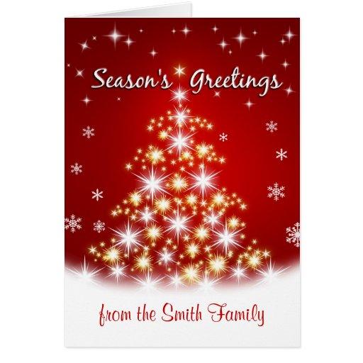 Season's Greetings - Personalized Christmas Cards