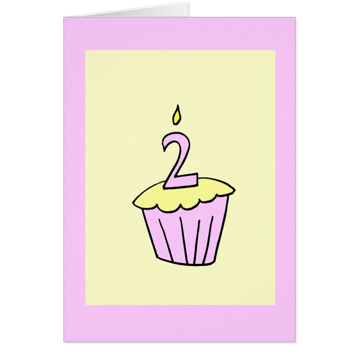 Second Birthday Cupcake Party Invitation Cards On Popscreen