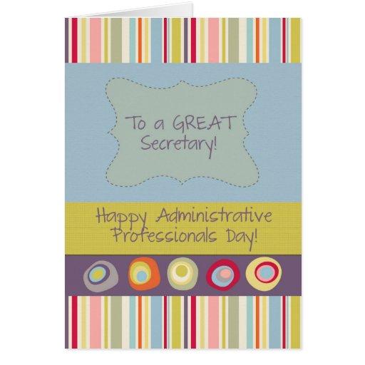 secretary happy administrative professionals day card