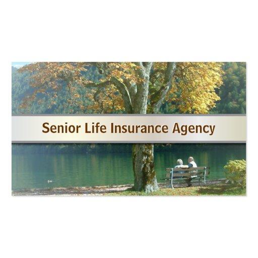 Life Insurance Quotes For Seniors 2 3: Senior Life Insurance Business Card V2
