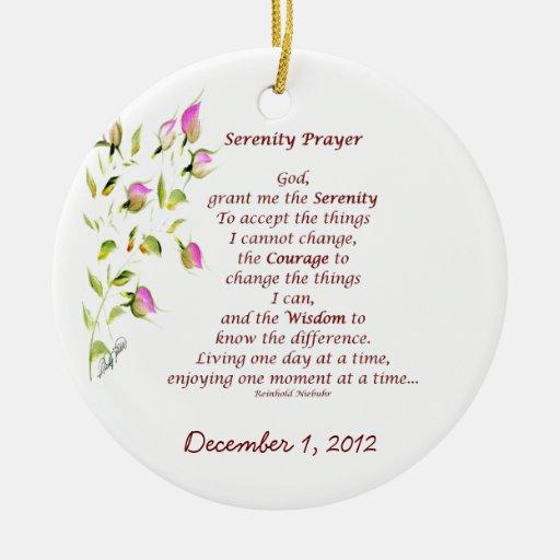 Serenity Prayer Ornament | Zazzle