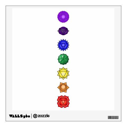 Seven Vertical Chakras Room Sticker Zazzle