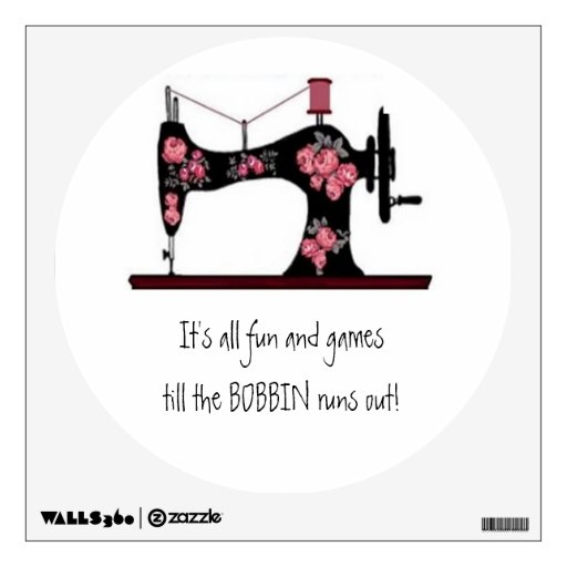 Sewing Room Wall Decal Zazzle