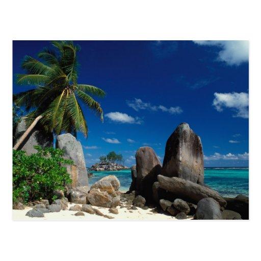 Seychelles Beach: Seychelles, Mahe Island, Anse Royale Beach. Postcard