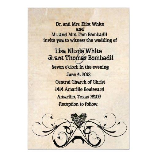 Cheap Shabby Chic Wedding Invitations: Shabby Rustic Wedding Invitation