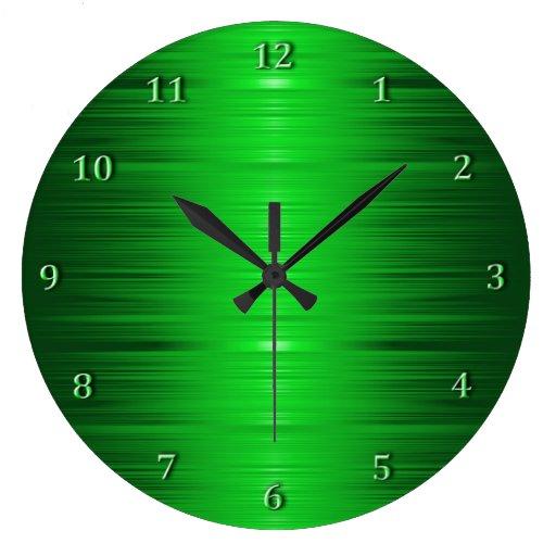Shaded Emerald Green Wall Clock Zazzle