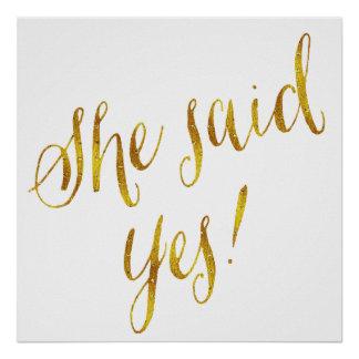 She said yes quotes