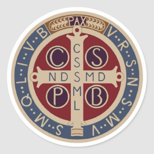 Sheet Of St Benedict Medal Stickers Zazzle