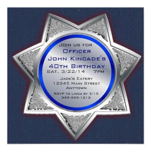 Decorative Wedding Invitation Badge 7: Personalized Sheriff Invitations