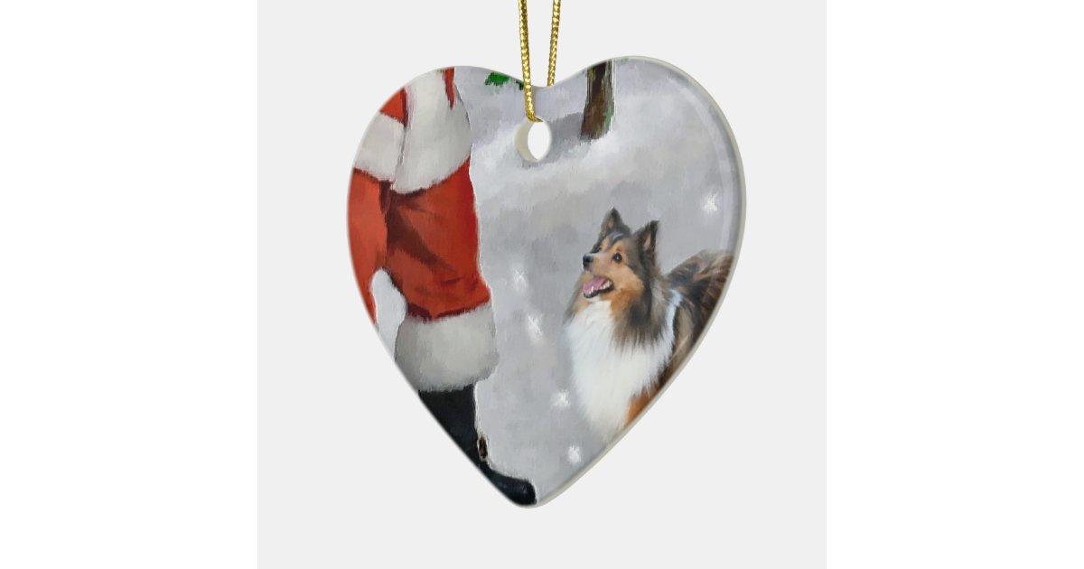 Shetland Sheepdog Sheltie Christmas Gifts Ceramic Ornament ...