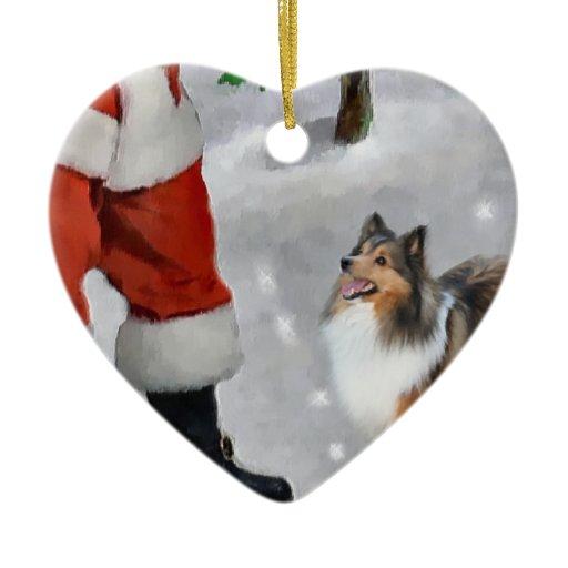 Shetland Sheepdog Sheltie Christmas Gifts Double-Sided ...