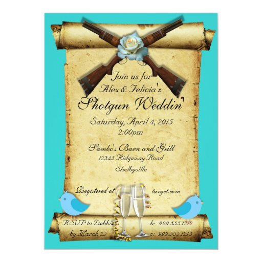 Good Last Minute Wedding Gifts: Shotgun Wedding Invitations