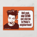 Shut Gitmo - Indignant Woman postcard