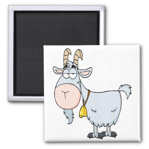 Cabinet Maker Clip Art: Silly Cartoon Billy Goat Refrigerator Magnet