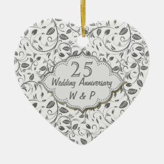25th Wedding Anniversary Christmas Ornaments & 25th ...