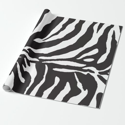 Aninimal Book: Simple Black and White Zebra Stripe Pattern Wrapping Paper ...