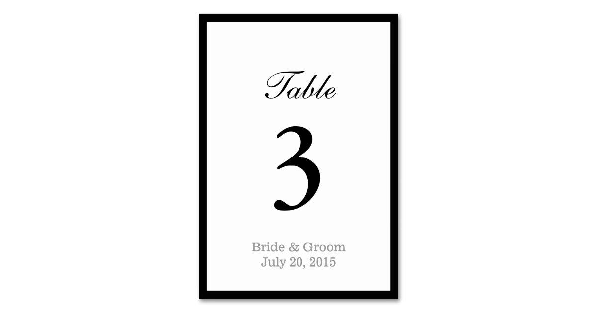 simple bold border doublesided wedding card  zazzle