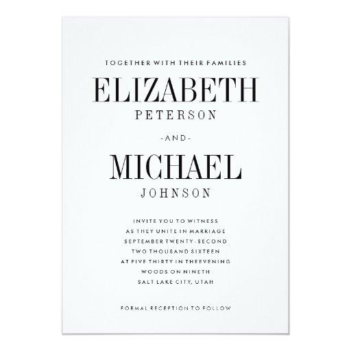 Elegant Wedding Invitation Templates: Simple Elegant Type Wedding Invitation Template