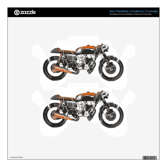 Simple Motorcycle Cafe Racer 750 Drawing Ps3 Controller Skin On