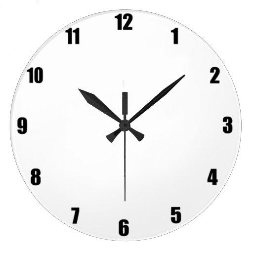 Simple Wall Clock Zazzle