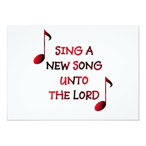 New Song Singa One Man: Sing A New Song Unto The Lord Card