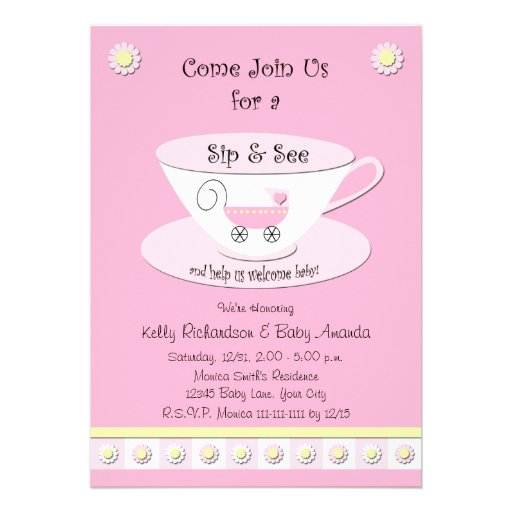 personalized sip and see invitations custominvitations4u com