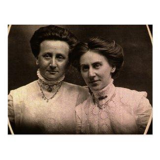 Sisters, Cora & Addie ZARFOS, circa 1900