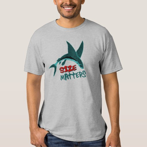 Size Matters Funny Fishing Play On Words T-shirt