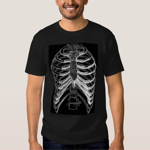 Skeleton Rib cage Shirt | Zazzle