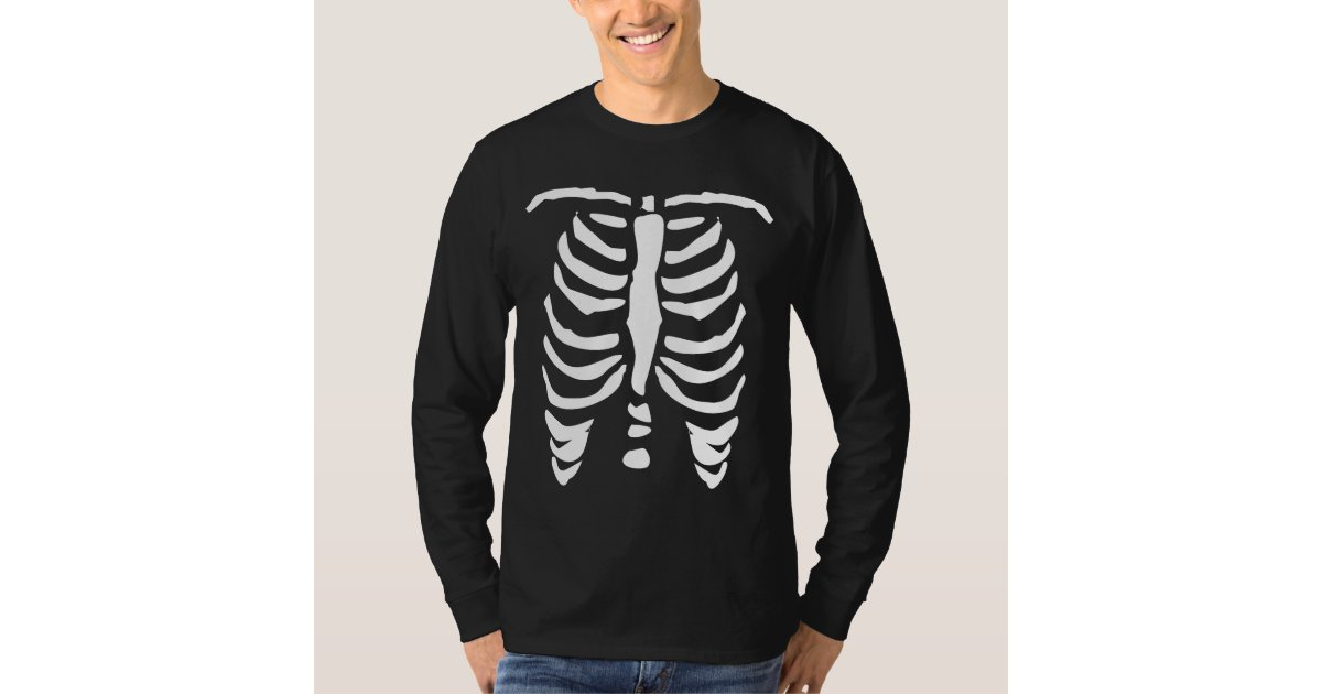 Skeleton rib cage shirt for Halloween | Zazzle