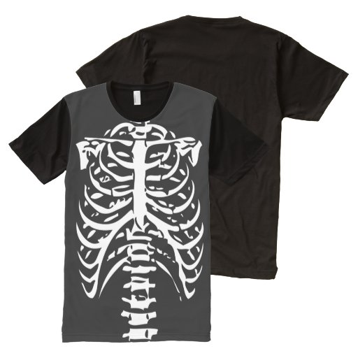 Skeleton Ribs Costume All-Over Print Shirt | Zazzle
