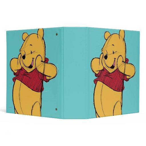 Sketch Winnie The Pooh 3 Ring Binders