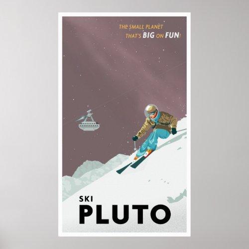 Ski Pluto print