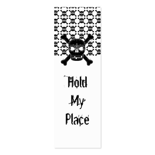 double sided bookmark template - skull and crossbone bookmark double sided mini business