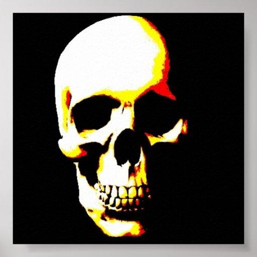 Skull Poster Print - Fantasy Punk Rock Pop Art | Zazzle