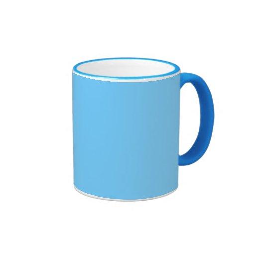Sky Blue Solid Color Ringer Coffee Mug   Zazzle