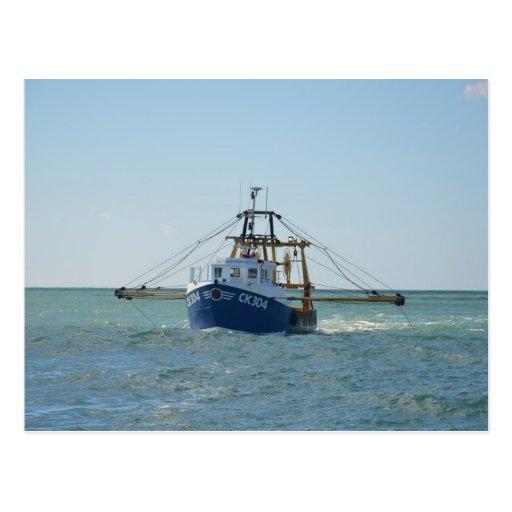 small fishing boat postcards postcard template designs. Black Bedroom Furniture Sets. Home Design Ideas
