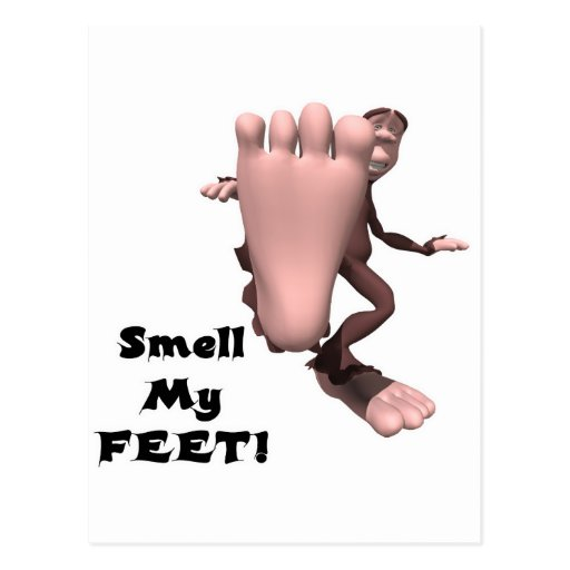 Smell my feet while you jack off