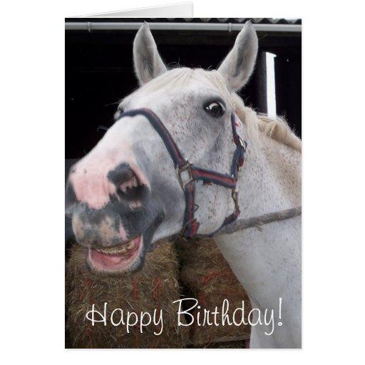smile horse wish happy birthday card  zazzle