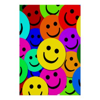 SMILEY FACE COLLAGE POSTER zazzle_print