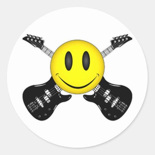 smiley face round humor classic sticker zazzle