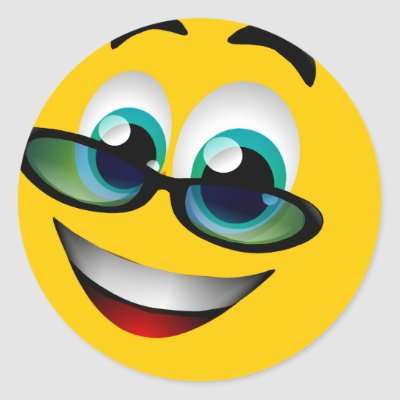 http://rlv.zcache.com/smiley_face_with_glasses_sticker-p217980409909685169qjcl_400.jpg